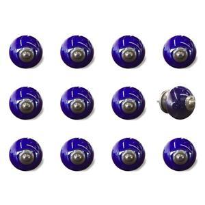 Handpainted Ceramic Knobs - 12 PK - Blue