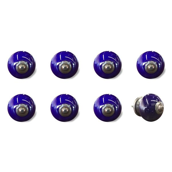 Natural by Lifestyle Brands Handpainted Navy/Copper Ceramic Knobs (8 Pack)
