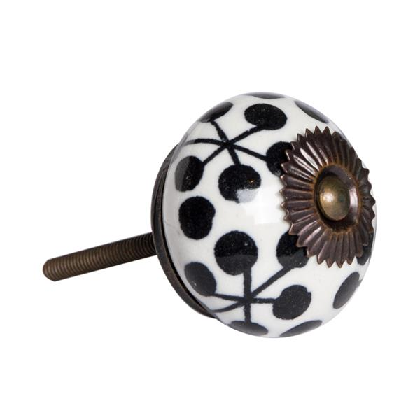 Natural by Lifestyle Brands Handpainted Black/White/Copper Ceramic Knobs (8 Pack)