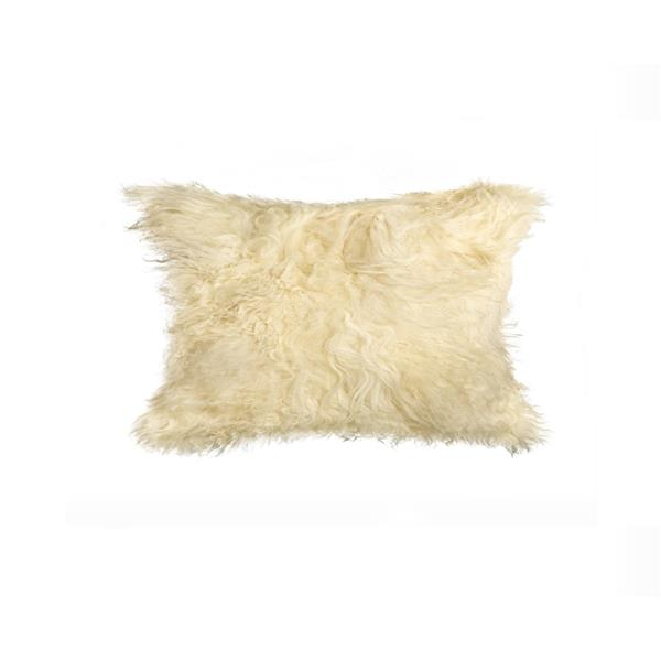 Natural by Lifestyle Brands Mongolian Natural 12-in x 20-in Sheepskin Pillow