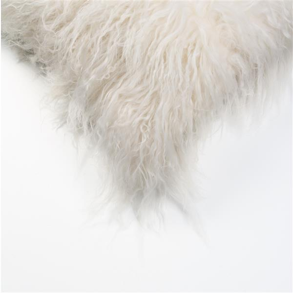 Natural by Lifestyle Brands Mongolian White 12-in x 20-in Sheepskin Pillow