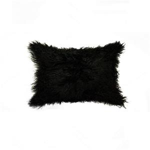 Natural by Lifestyle Brands Mongolian Black 12-in x 20-in Sheepskin Pillow