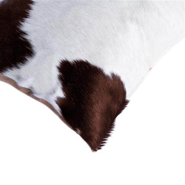 "Coussins en peau de vache Kobe, 12""x20"", blanc/brun, 2 pqt"