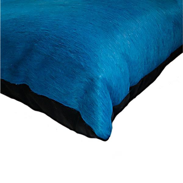 """Coussins en peau de vache Torino, 12""""x20"""" bleu ciel, 2 pqt"""