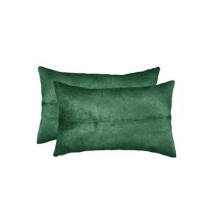"Coussins en peau de vache Torino, 12""x20"", vert, 2 pqt"