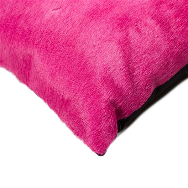 Natural by Lifestyle Brands Torino 12-in x 20-in Fuchsia Cowhide Pillow (2 Pack)