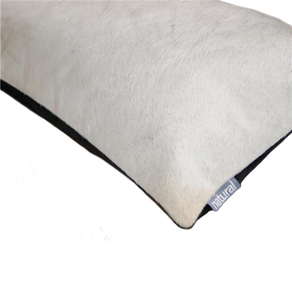Natural by Lifestyle Brands 12-in x 20-in Off-White Torino Cowhide Pillow (2 Pack)