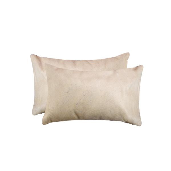 Natural by Lifestyle Brands 12-in x 20-in Tan Torino Cowhide Pillow (2 Pack)
