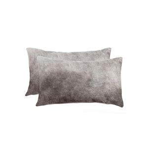 Natural by Lifestyle Brands Torino Brown 12-in x 120-in Cowhide Pillows (2 Pack)