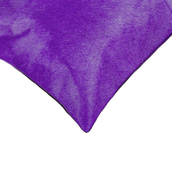 """Coussins en peau de vache Torino, 18""""x18"""", violet, 2 pqt"""