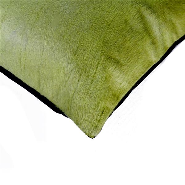 Natural by Lifestyle Brands 18-in Lime Torino Cowhide Pillow (2 Pack)
