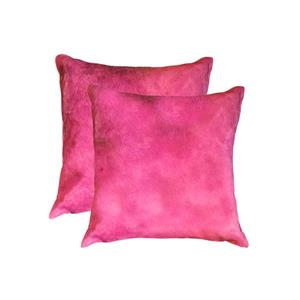 Natural by Lifestyle Brands 18-in Fuchsia Torino Cowhide Pillow (2 Pack)