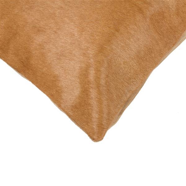 """Coussins en peau de vache Torino, 18""""x18"""", beige, 2 pqt"""