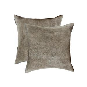 Natural by Lifestyle Brands 18-in Gray Torino Cowhide Pillow (2 Pack)