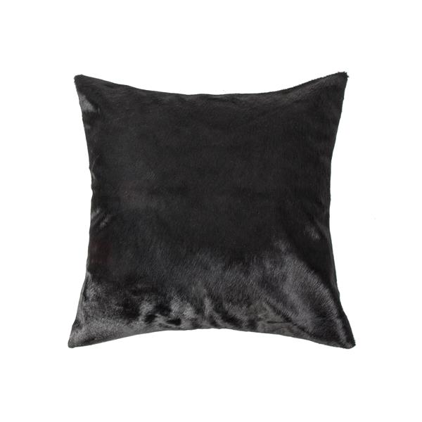 Natural by Lifestyle Brands 18-in Black Torino Cowhide Pillow (2 Pack)