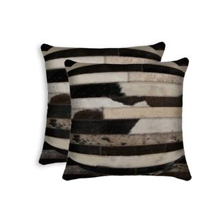 Natural by Lifestyle Brands 18-in Multicoloured Torino Cowhide Pillow (2 Pack)