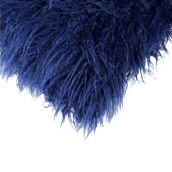 LUXE Mongolian Ink 12-in x 20-in Faux Fur Pillows (2 Pack)