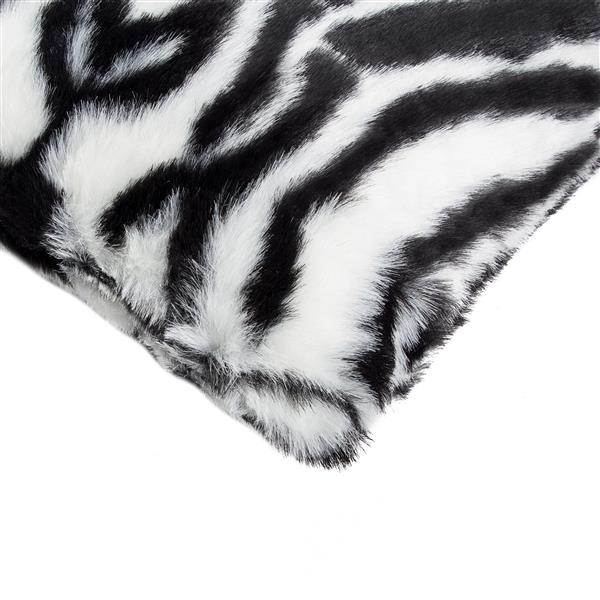 Luxe Belton 18-in Square Zebra Faux Fur Pillows (2 Pack)