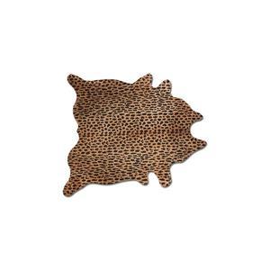 Tapis Togo en peau de vachette, 5'x 7', leopard