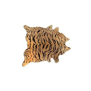 Tapis Togo en peau de vachette , 5'x 7', tigre chocolat