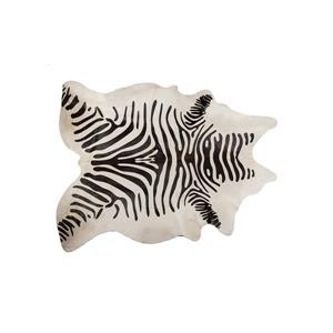 Natural by Lifestyle Brands 5' x 7' Zebra Black/Off-White Togo Cowhide Rug