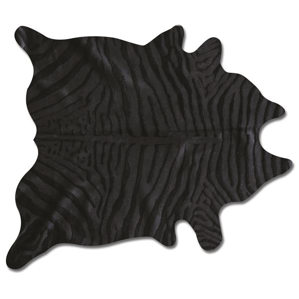 Natural by Lifestyle Brands 6' x 7' Zebra/Black Togo Cowhide Rug