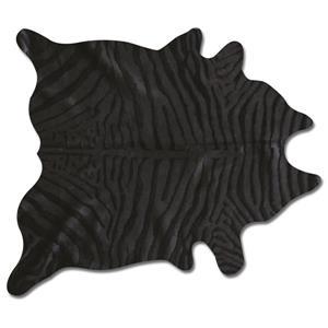 Natural by Lifestyle Brands 6' x 7' Zebra/Black Togo Cowhide Rug