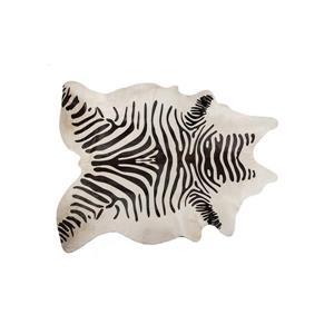 Tapis Togo en peau de vachette, 6'x 7', zebre
