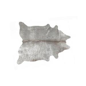 Tapis Ecosse en peau de vachette, 6'x 7', gris
