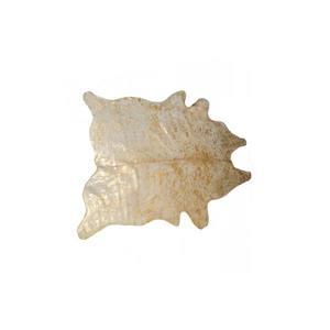 Tapis Ecosse en peau de vachette, 5'x 7', naturel/or
