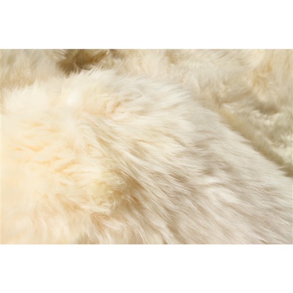 Natural by Lifestyle Brands 4-ft x 6-ft Gold New Zealand Quattro Sheepskin Rug