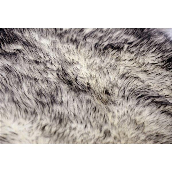 Tapis Quattro en peau de mouton ,4'x 6', grs