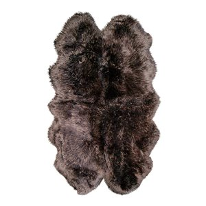 Natural by Lifestyle Brands Natual 4-ft x 6-ft Chocolate New Zealand Quattro Sheepskin Rug
