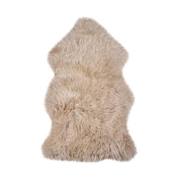 Tapis en peau de mouton ,2'x 3', taupe