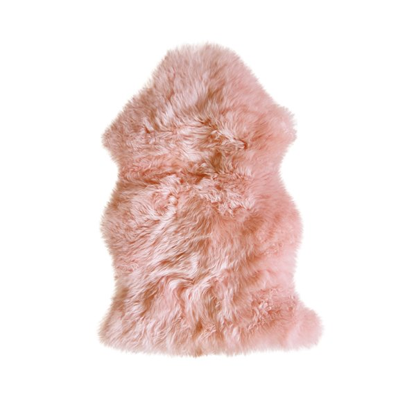 Natural by Lifestyle Brands 2-ft x 3-ft Pink New Zealand Single Sheepskin Rug