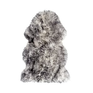 Natural by Lifestyle Brands 2-ft x 3-ft Grey New Zealand Single Sheepskin Rug