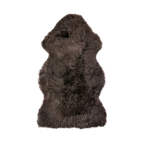 Natural by Lifestyle Brands 2-ft x 3-ft Chocolate New Zealand Single Sheepskin Run