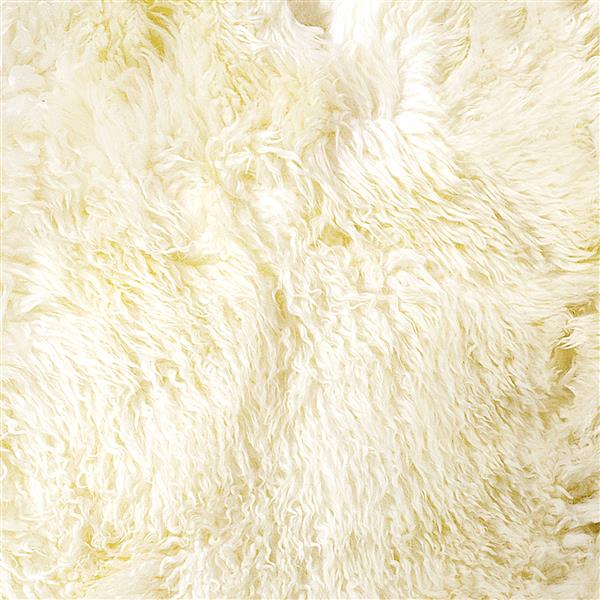 Natural by Lifestyle Brands 2-ft x 6-ft Natural New Zealand Curly Double Sheepskin Rug