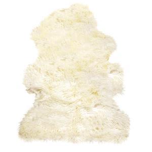 Tapis en peau de mouton frisé ,2'x 3', naturel