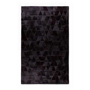 Natural by Lifestyle Brands 8-ft x 10-ft Black Mosiak Natural Stitched Cowhide Rug