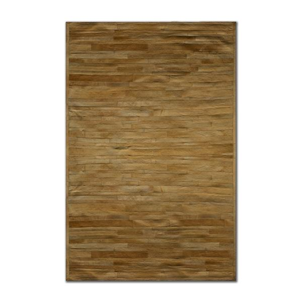 Natural by Lifestyle Brands 8-ft x 10-ft Tan Linear Cowhide Area Rug