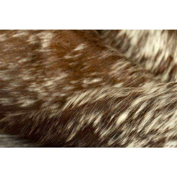 Natural by Lifestyle Brands Kobe Cowhide Rug - 5'x 7' - Chocolate/White
