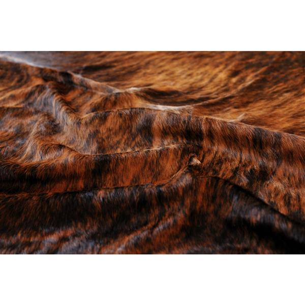 Natural by Lifestyle Brands 5-ft x 7-ft Classic Brindle Kobe Cowhide Area Rug