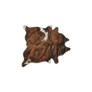 Tapis kobe en peau de vache, 5' x 7', bringe classique