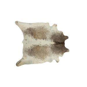 Natural by Lifestyle Brands 6-ft x 7-ft Taupe & White Kobe Cowhide Area Rug