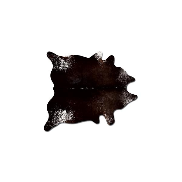 Natural by Lifestyle Brands 6-ft x 7-ft Chocolate & White Kobe Cowhide Area Rug