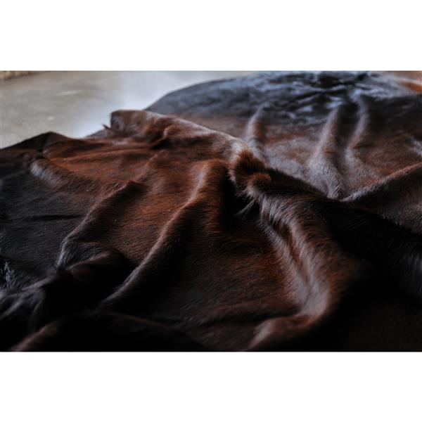 Natural by Lifestyle Brands 6-ft x 7-ft Norman Exotic Cowhide Area Rug