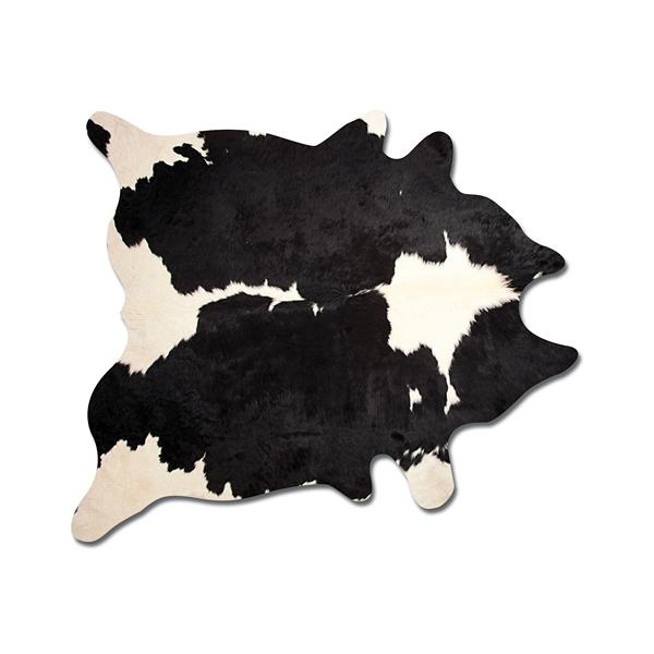 Natural by Lifestyle Brands 6-ft x 7-ft Black and White Kobe Cowhide Area Rug