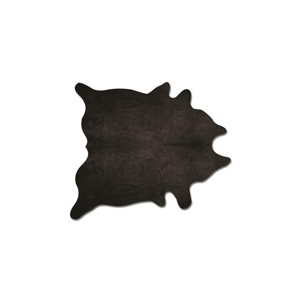 Natural by Lifestyle Brands 5-ft x 7-ft Black Geneva Cowhide Area Rug