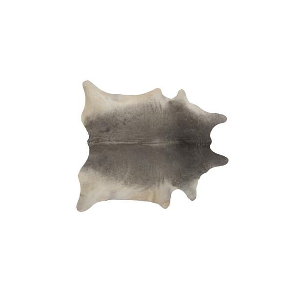 Natural by Lifestyle Brands 5-ft x 7-ft Grey Geneva Cowhide Area Rug